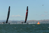 Oracle Team USA, Skipper James Spithill, Emirates Team New Zealand, Skipper Dean Barker